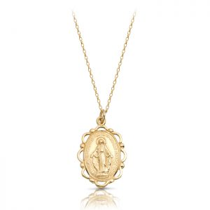 9K Gold Miraculous Medal-MM17
