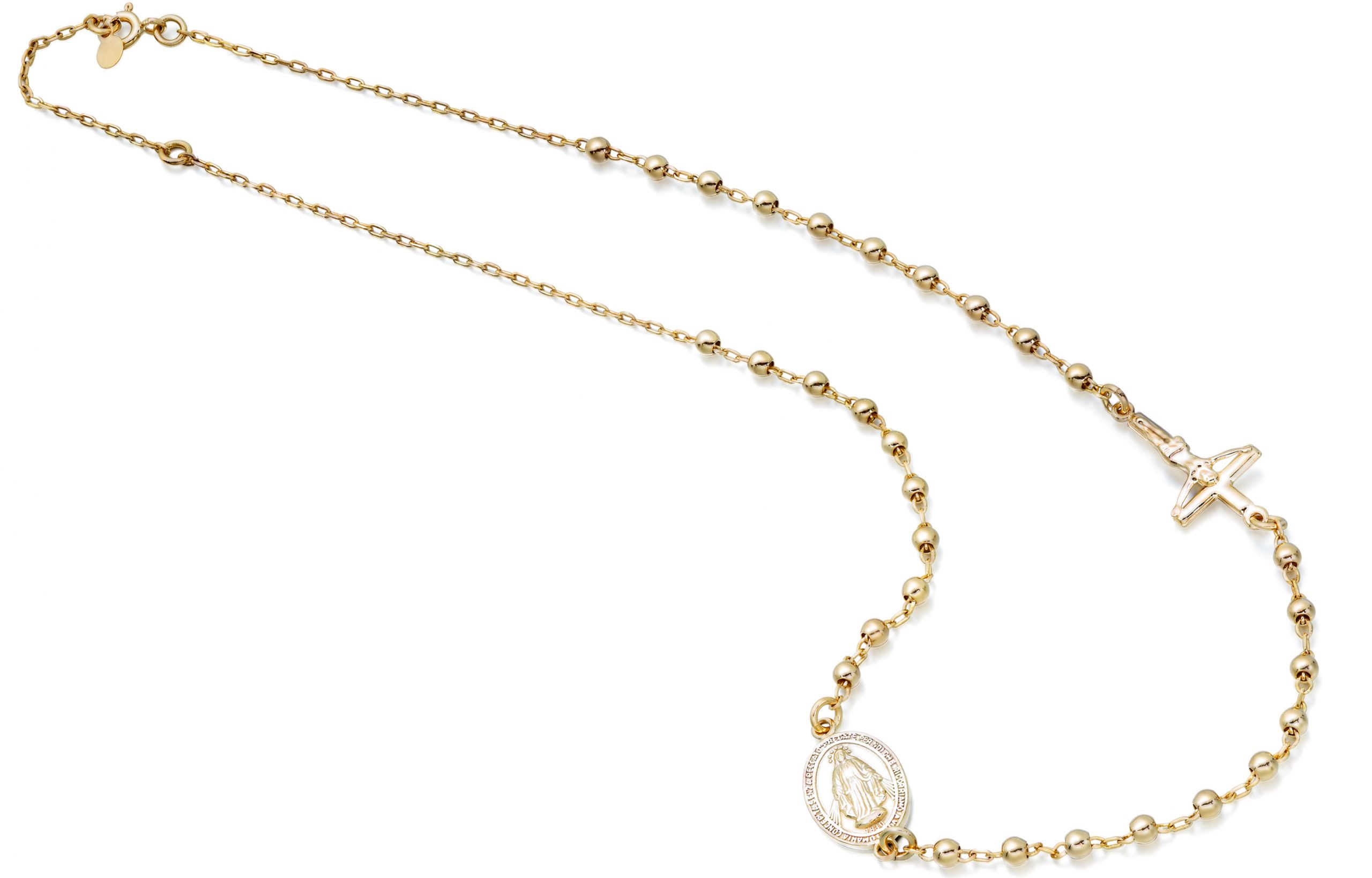 9ct Gold Rosary Necklace - RBN2
