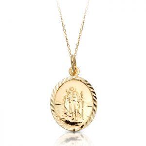 9K Gold Saint Christopher Medal - ST2