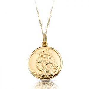 9K Gold Saint Christopher Medal - ST3