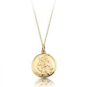 9K Gold Saint Christopher Medal - ST4