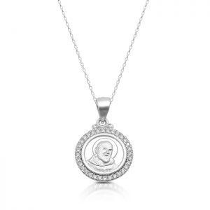 Silver Padre Pio Medal-SM37