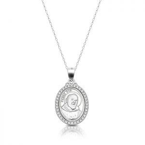 Silver Padre Pio Medal-SM38