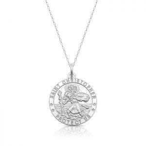 Silver Saint Christopher Medal - SST30