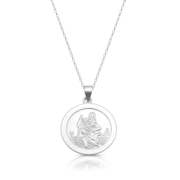 Silver Saint Christopher Medal - SST32