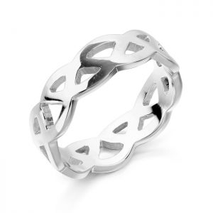 Silver Celtic Wedding Ring-S1518