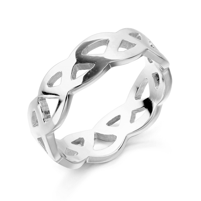 Silver Celtic Wedding Ring.