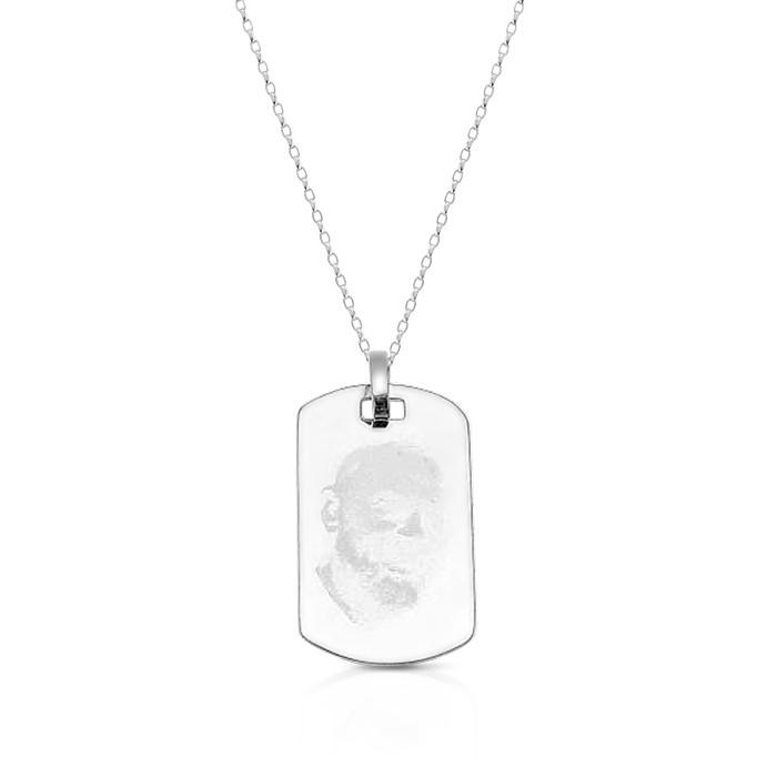 Silver Padre Pio Medal.