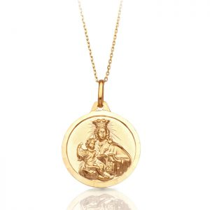 9ct Gold Sacred Heart Medal -J36