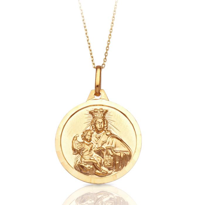 9ct Gold Sacred Heart Medal-Pendant-J37