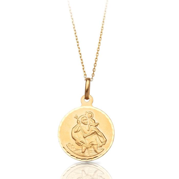 9ct Gold Saint Christopher Medal - J39